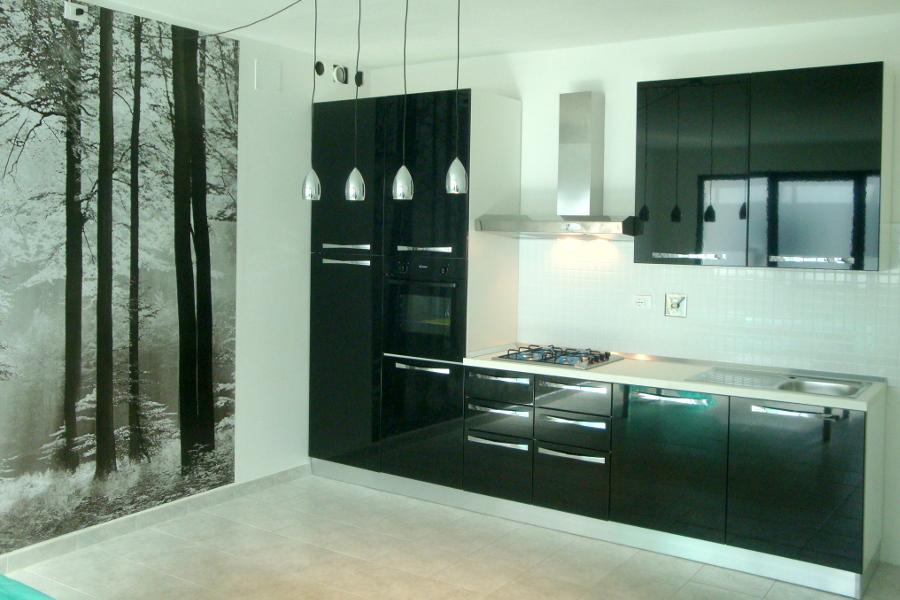 Cucina moderna nera val cuc001 mobili su misura a firenze lapi arredamenti - Mobili cucina moderna ...