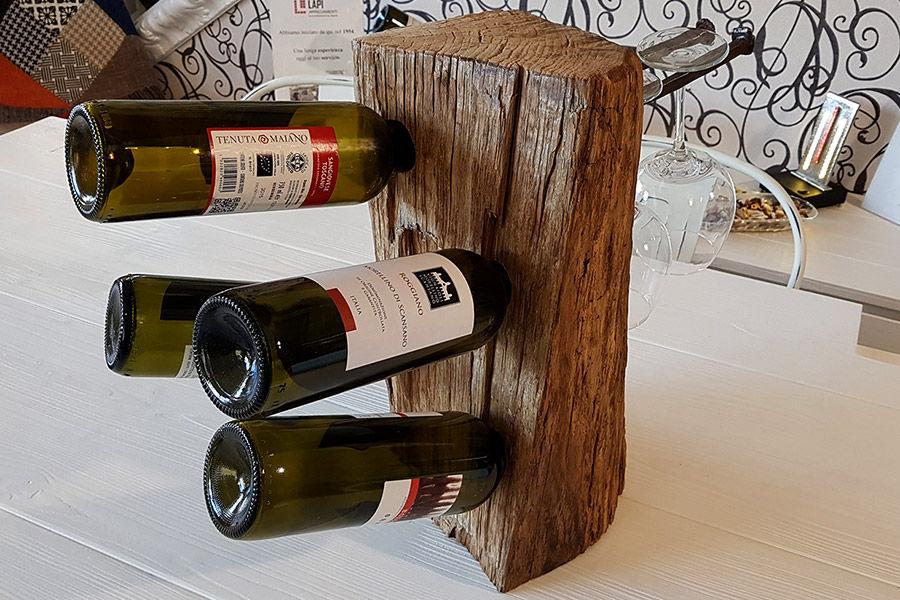 Porta Bottiglie In Legno Di Recupero (XN-CAN009)