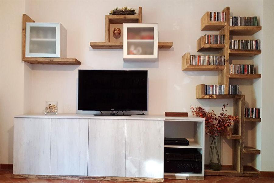 Composizione in legno di recupero (XN-COM005)