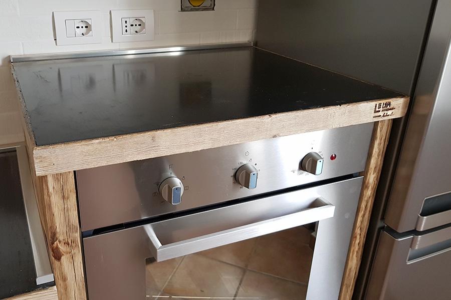Cucina in legno di recupero e tubi in acciaio (XT-CUC004 ...