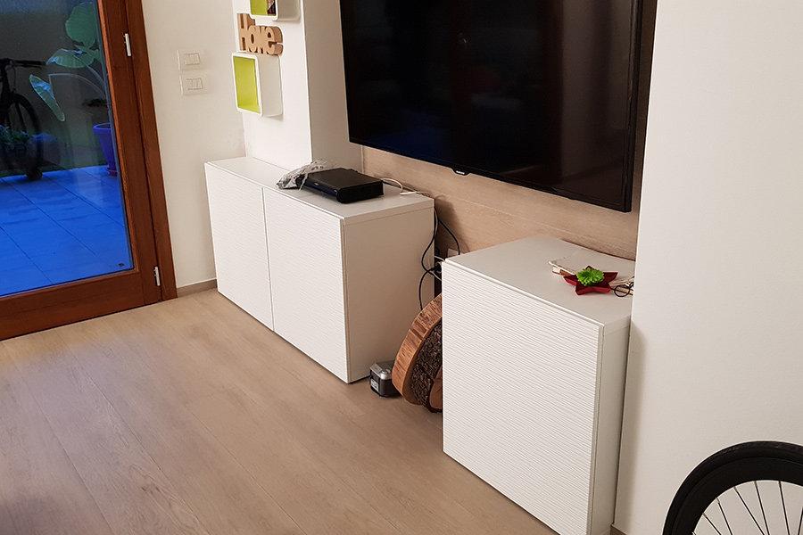 Porta TV In Legno Di Recupero (XN-PTV004)