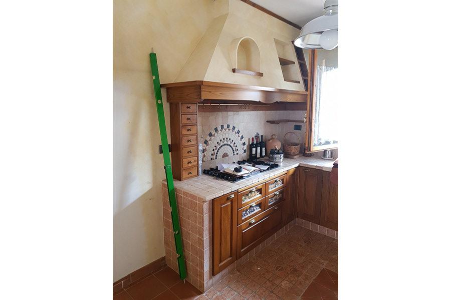 Completamento Cucina In Finta Muratura (PP-CFM043) - Com'era Prima