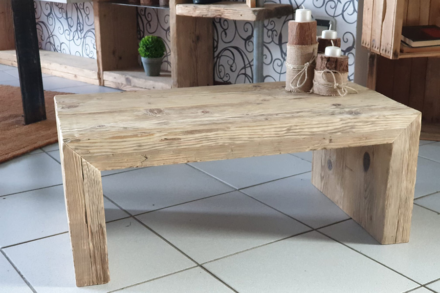 Tavolino in legno di recupero